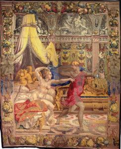 Atelier di Nicolas Karcher Giuseppe fugge dalla moglie di Putifarre, 1548-1549 disegno e cartone di Bronzino Firenze, Soprintendenza Speciale Polo Museale