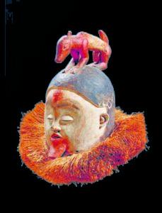 Maschera Atelier Suku, Repubblica Democratica del Congo, inizio XIX secolo Legno, altezza cm 40 Zurigo, Museum Rietberg, Inv. EFA 1 Credito fotografico: © Museum Rietberg, Zurigo / foto Rainer Wolfsberger.