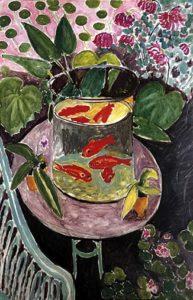 "I pesci rossi, 1911, olio su tela, Mosca, The State ""A. S. Pushkin"" Museum of Fine Arts."