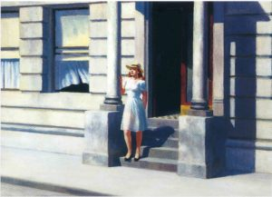 Edward Hopper, Summertime. Olio su tela, 1943